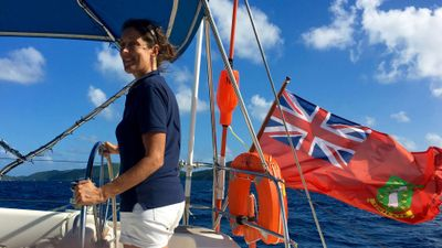 Sam at the helm -