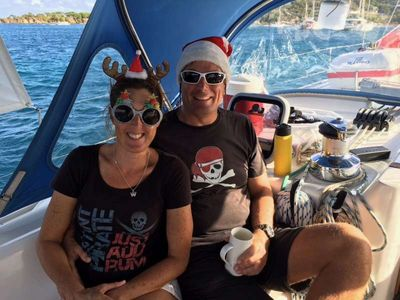 Sam and Neil in the Christmas spirit!! -