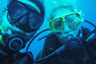 Diego & Valerie - Both are Certified Dive Masters