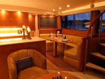 PRIORITY Yacht Charter - Galley and Dining Salon