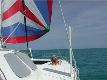 GENESIS Yacht Charter - View to Bow