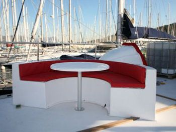 DREAM 82' Yacht Charter - Outside Seating and Dining