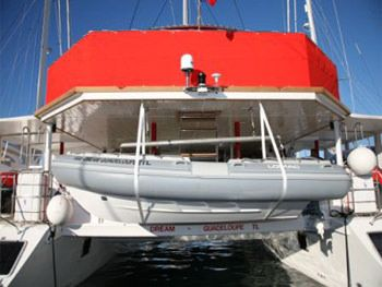 DREAM 82' Yacht Charter - View from Stern / Dinghy
