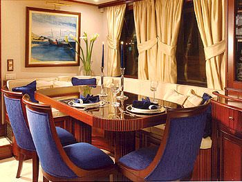 LIANA H Yacht Charter - Formal Dining