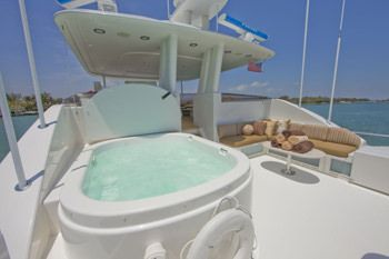 ALICIA Yacht Charter - Deck Jacuzzi
