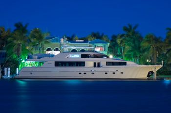 ALICIA Yacht Charter - Evening Profile