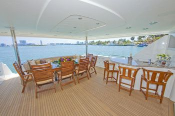 ALICIA Yacht Charter - Aft Deck