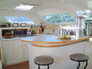 FEEL THE MAGIC Yacht Charter - Galley and Bar