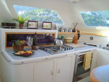 FEEL THE MAGIC Yacht Charter - Galley