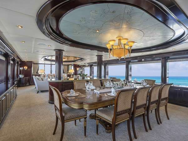 NEVER ENOUGH Yacht Charter - Dining Area
