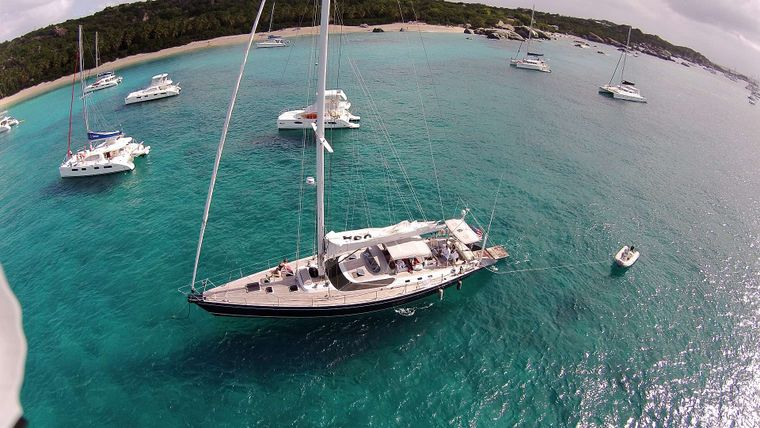 CAP II Yacht Charter - Aerial View