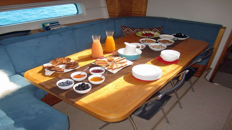 CAP II Yacht Charter - Formal Dining