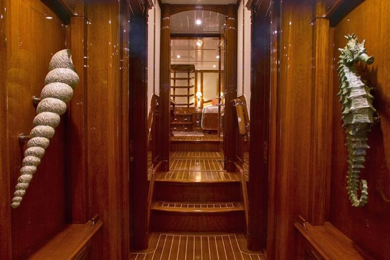 WHISPER Yacht Charter - Guest Companion Way