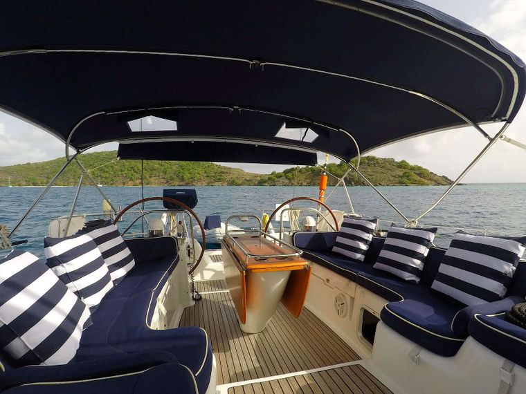 SAYANG Yacht Charter - Cockpit and helm