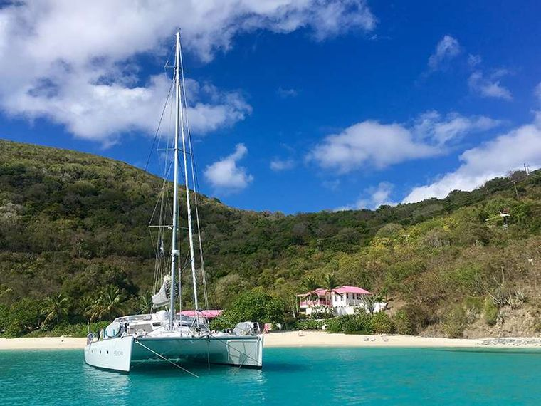 PELICAN Yacht Charter - Anchored on White Bay, Jost Van Dyke