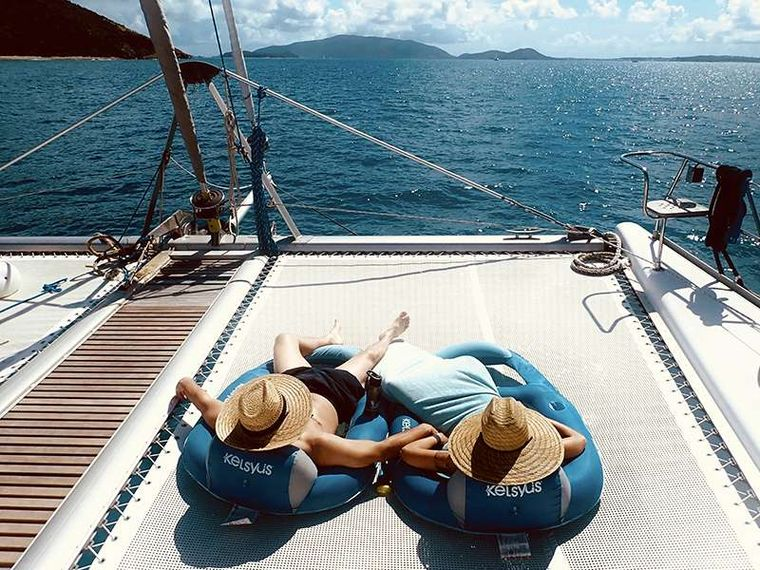 PELICAN Yacht Charter - Loafing after a hard day vacationing.