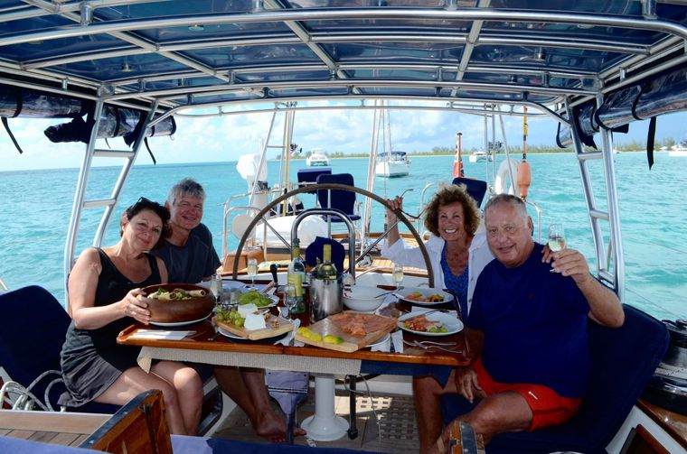 THE DOVE Yacht Charter - Cockpit Dining
