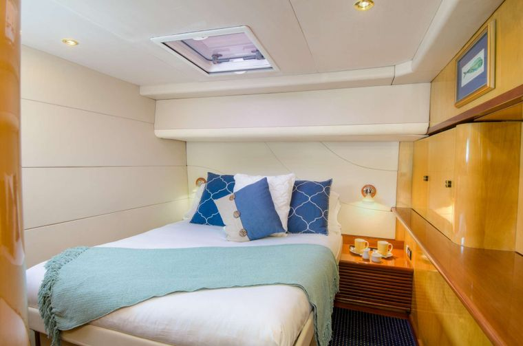 ZINGARA Yacht Charter - One of the aft guest queen berth suite