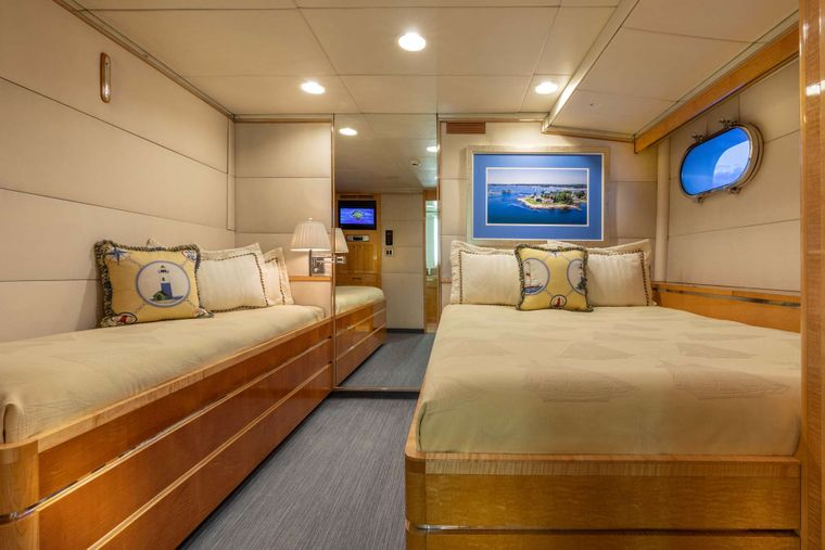 RENA Yacht Charter - Guest Stateroom 2 (w/ Pullman)