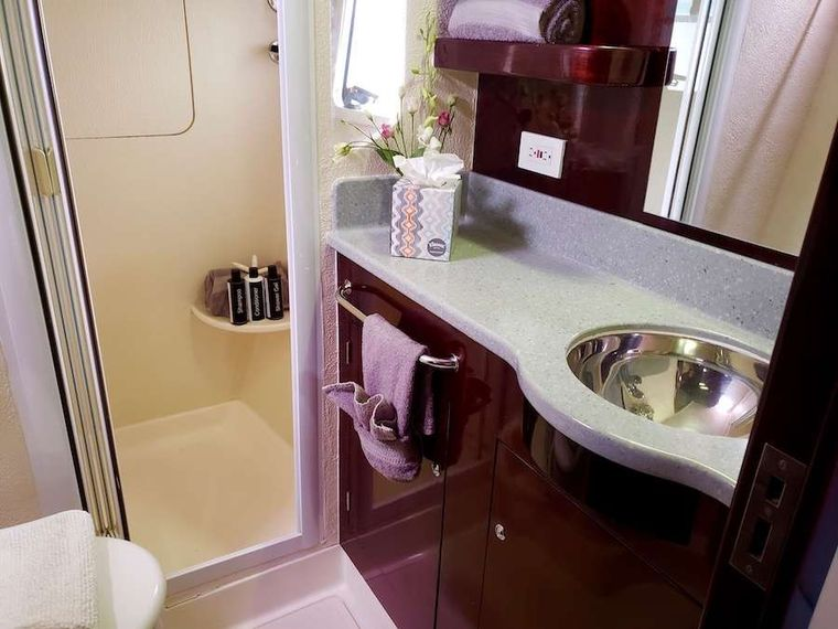 NUTMEG Yacht Charter - Master head and shower