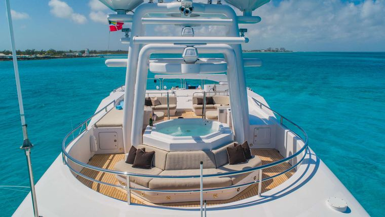 STARSHIP Yacht Charter - Sun Deck with Jacuzzi