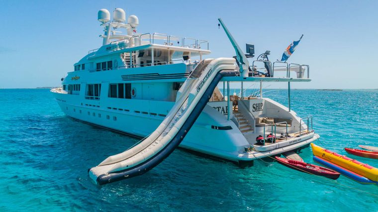 STARSHIP Yacht Charter - Slide, Swim Platform and Toys!