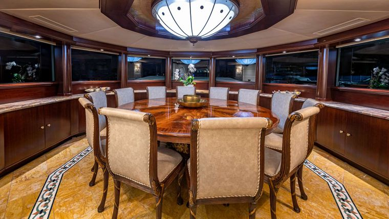 STARSHIP Yacht Charter - Dining Table