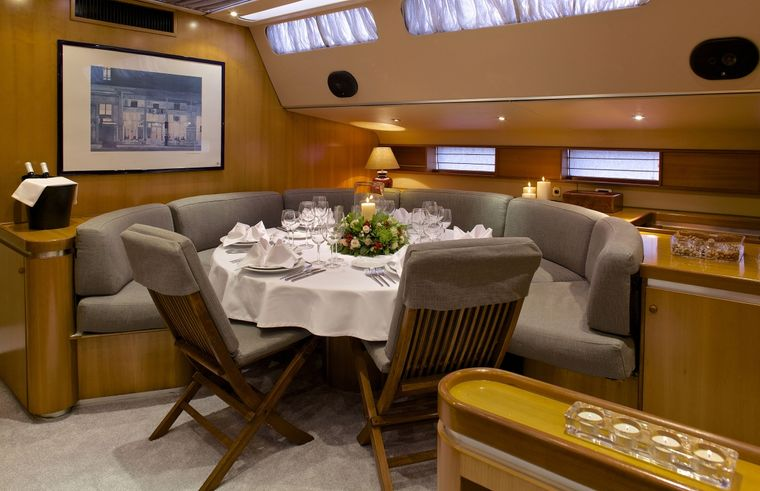 AMADEUS Yacht Charter - FORMAL DINING