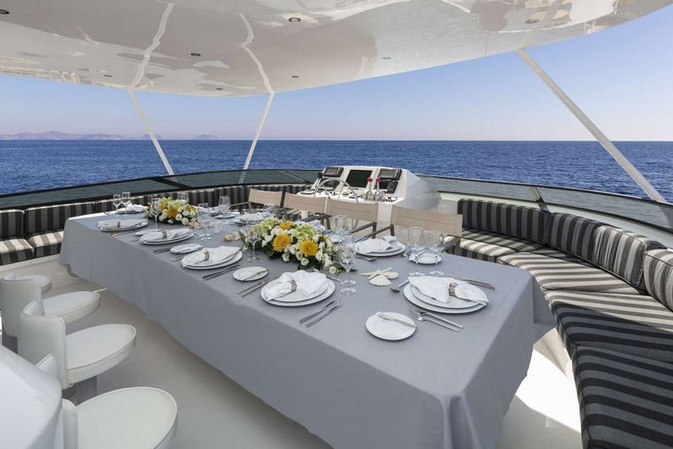 ENDLESS SUMMER Yacht Charter - Dining table
