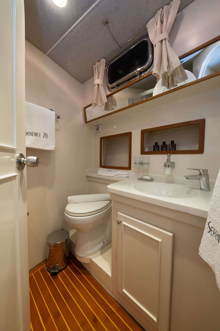 SERENITY 70 Yacht Charter - Master Cabin Bathroom