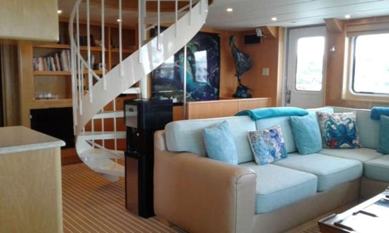 SLUMBER VENTURE Yacht Charter - Main Salon with Staircase