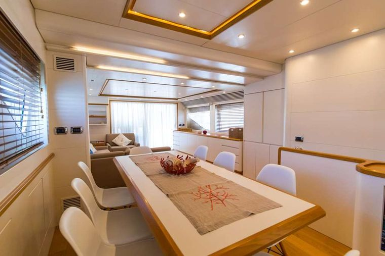 RIVIERA Yacht Charter - Formal dining area