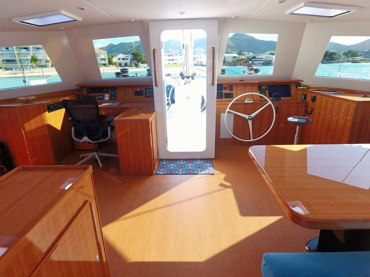 SKYLARK Yacht Charter - Saloon facing forward