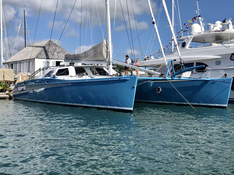 SKYLARK Yacht Charter - On the dock in historic English Harbour