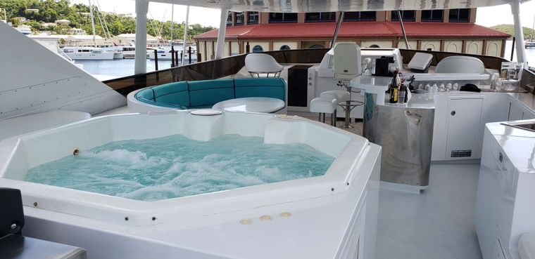 LADY SHARON GALE Yacht Charter - Jacuzzi Area looking forward
