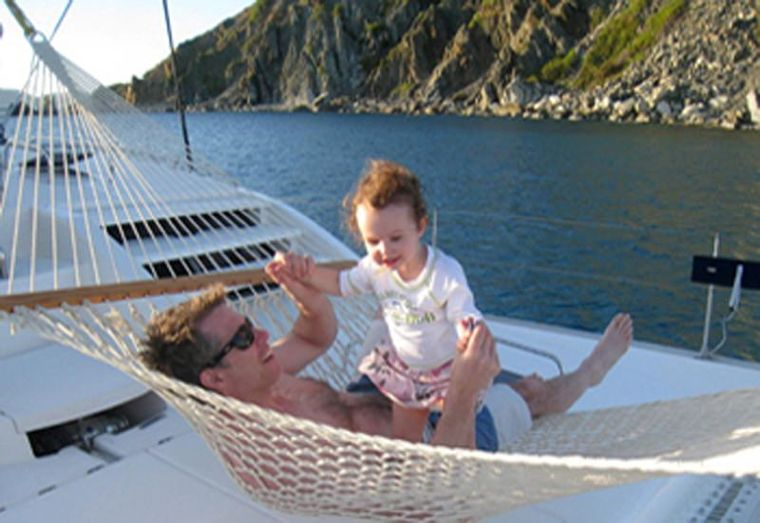 DREAMING ON Yacht Charter - Relaxing in the hammock