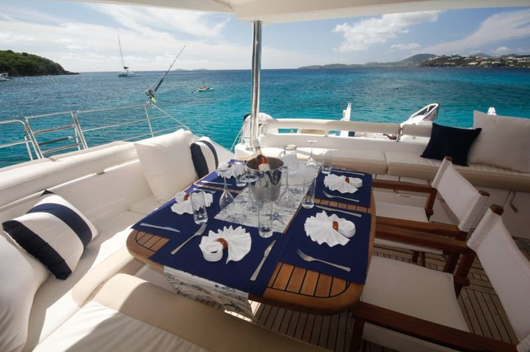 ELYSIUM Yacht Charter - The dining table