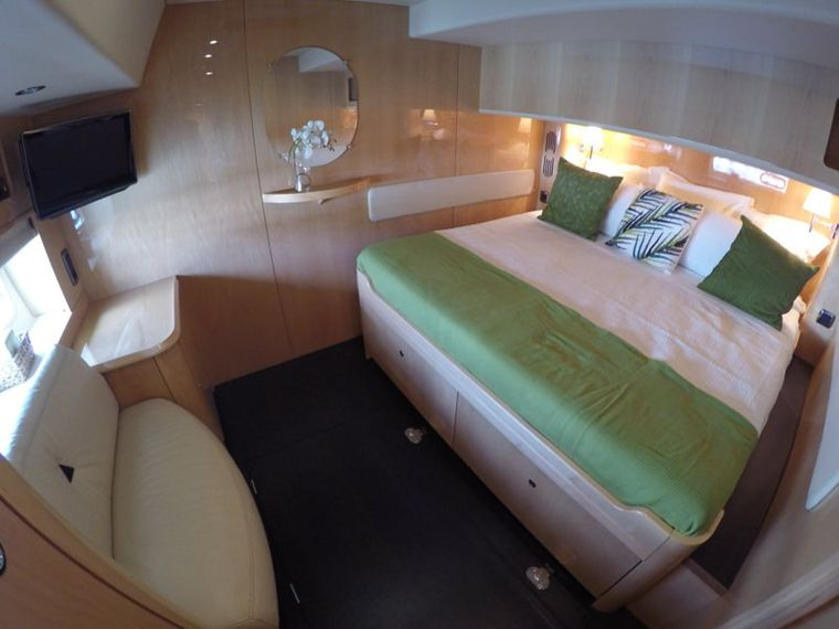 ELYSIUM Yacht Charter - Two identical king size guest cabin with in suite shower and head