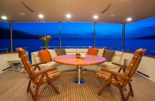 MAGICAL DAYS Yacht Charter - Aft Deck Dining