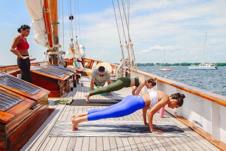 EROS Yacht Charter - Yoga on Deck