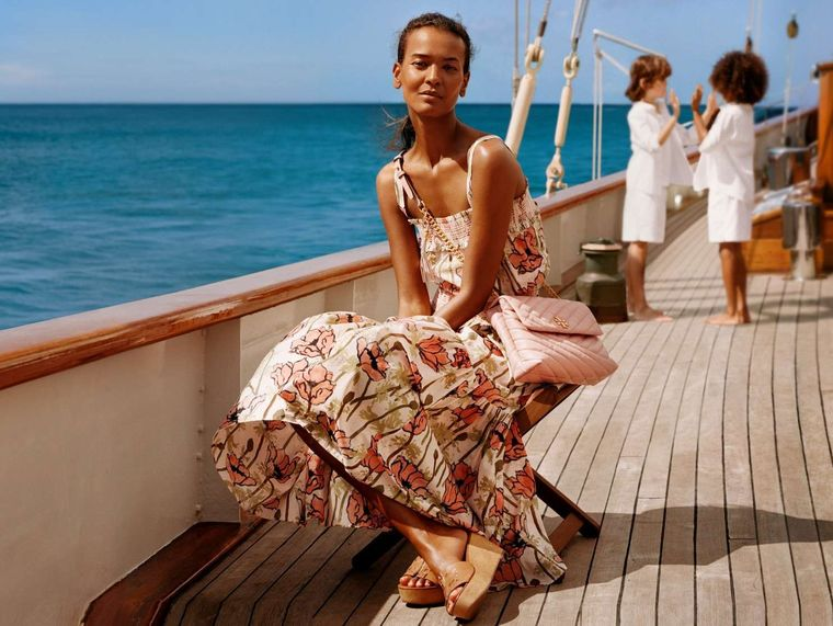 EROS Yacht Charter - Tory Burch Photo shoot on EROS