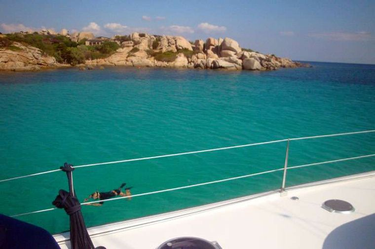 MOBY DICK Yacht Charter - Swimming at Cavallo