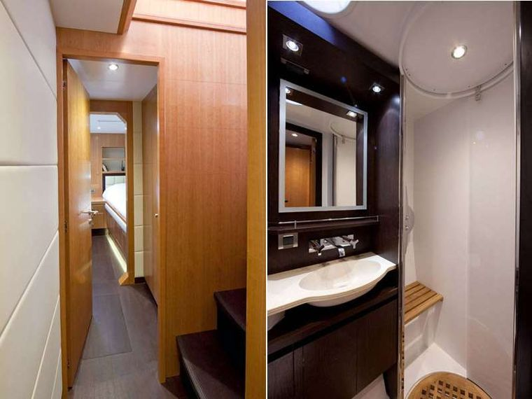 MOBY DICK Yacht Charter - Interior and Bathroom