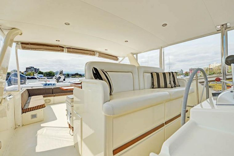 NORTHERN LIGHT Yacht Charter - Forward Top Deck (fully enclosed) and open air Aft Top Deck