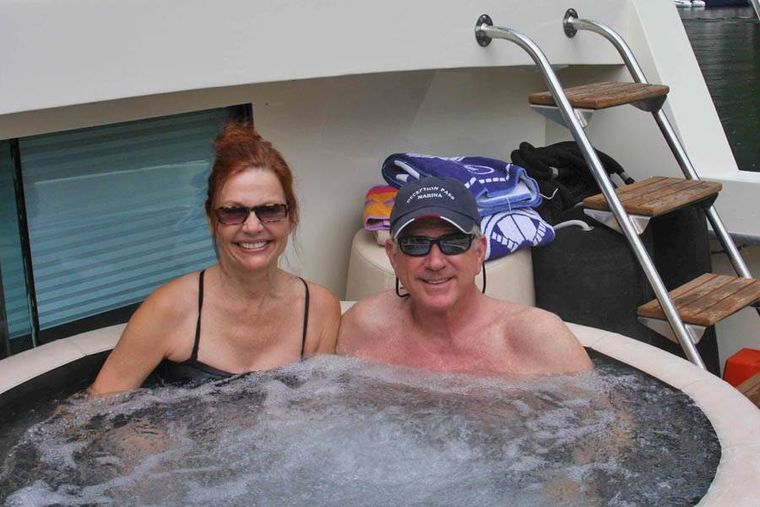 NORTHERN LIGHT Yacht Charter - Soft Sided Hot Tub in aft cockpit.