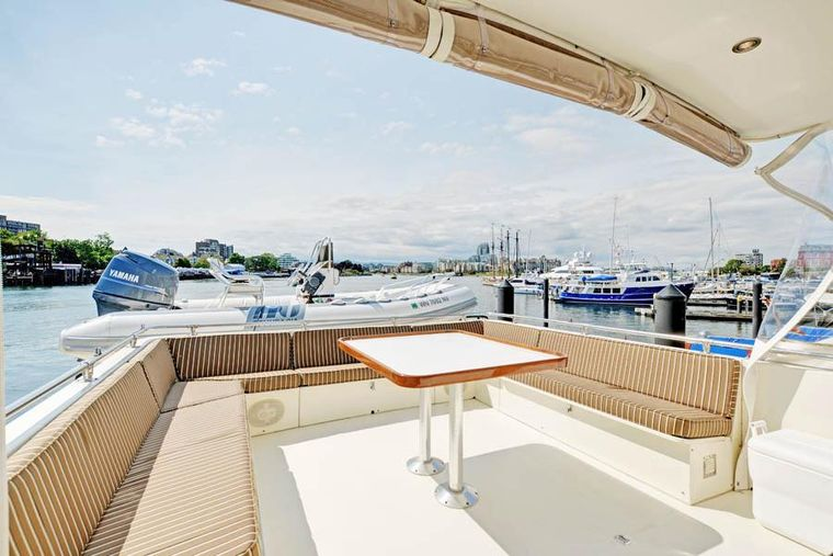 NORTHERN LIGHT Yacht Charter - Aft Top Deck (open air). A shade umbrella may be added.
