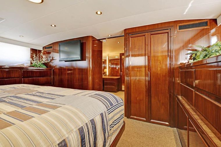 NORTHERN LIGHT Yacht Charter - Master Stateroom looking to Dressing Room/Office.