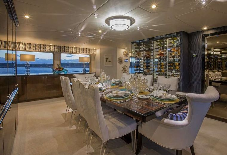 SWEET ESCAPE Yacht Charter - Formal Dining
