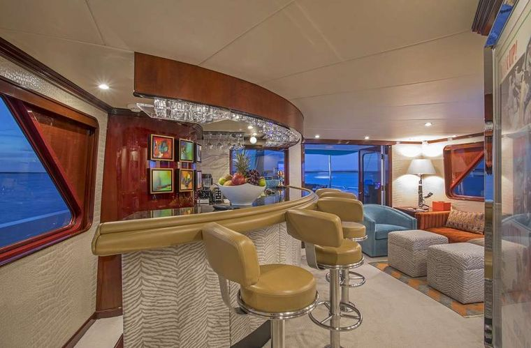 SWEET ESCAPE Yacht Charter - Skylounge with Blu-ray