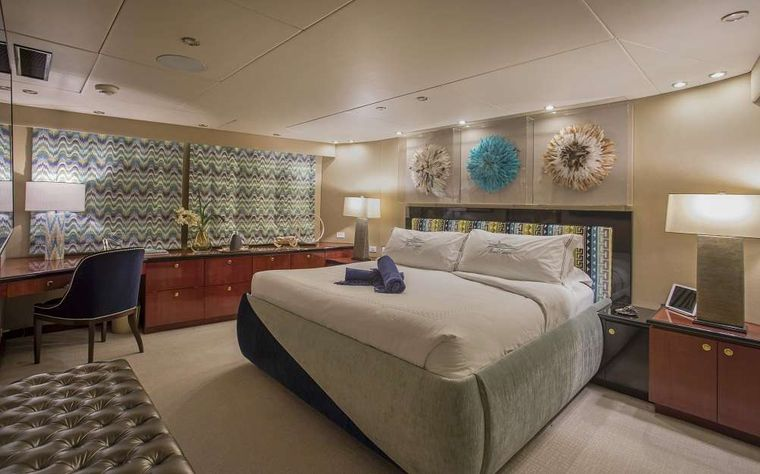 SWEET ESCAPE Yacht Charter - VIP King Stateroom on deck